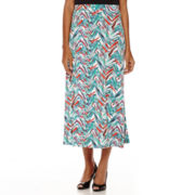 Black Label by Evan-Picone Chevron Print Maxi Skirt