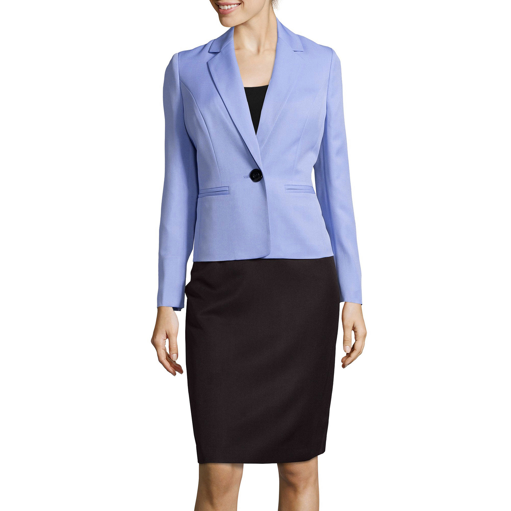 Le Suit One-Button Skirt Suit Set plus size,  plus size fashion plus size appare