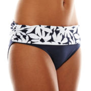 Liz Claiborne® Foldover Mid-Rise Brief Swim Bottoms