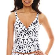 Liz Claiborne® Floral Twist Underwire Tankini Swim Top