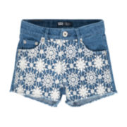 Levi's® Denim Crochet Shortie Shorts - Girls 7-16