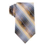 Van Heusen® Floral Stripe Silk Tie - Extra Long