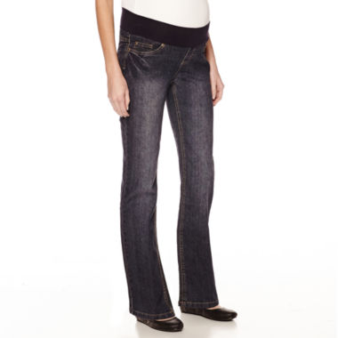 jcpenney.com | Maternity Low Panel Straight-Leg Jeans