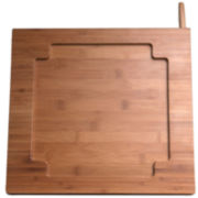 CTA Digital Bamboo Kitchen Stand for iPad® with Knife Storage