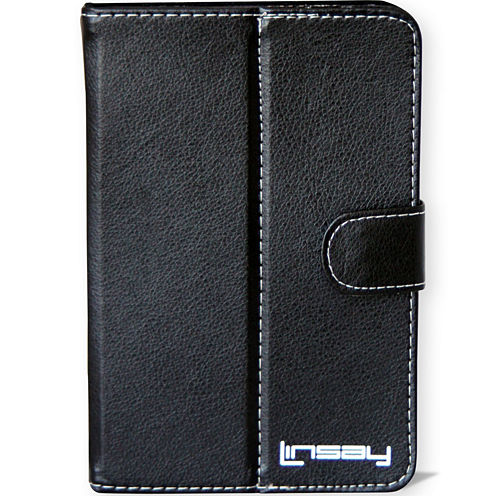 """Linsay® 7"""" Hard Leather Protective Tablet Case"""