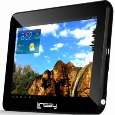 "jcpenney.com | Linsay® 7"" Quad-Core 512MB HD Dual-Camera Android Touchscreen Tablet"