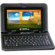 "Linsay® 7"" Quad-Core HD 8GB Android Touchscreen Tablet with Leather Keyboard"