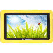 Linsay® 7'' Kids Fun Quadcore 8Gb 1024X600 HD Dual Cam Tablet with Yellow Defender Case