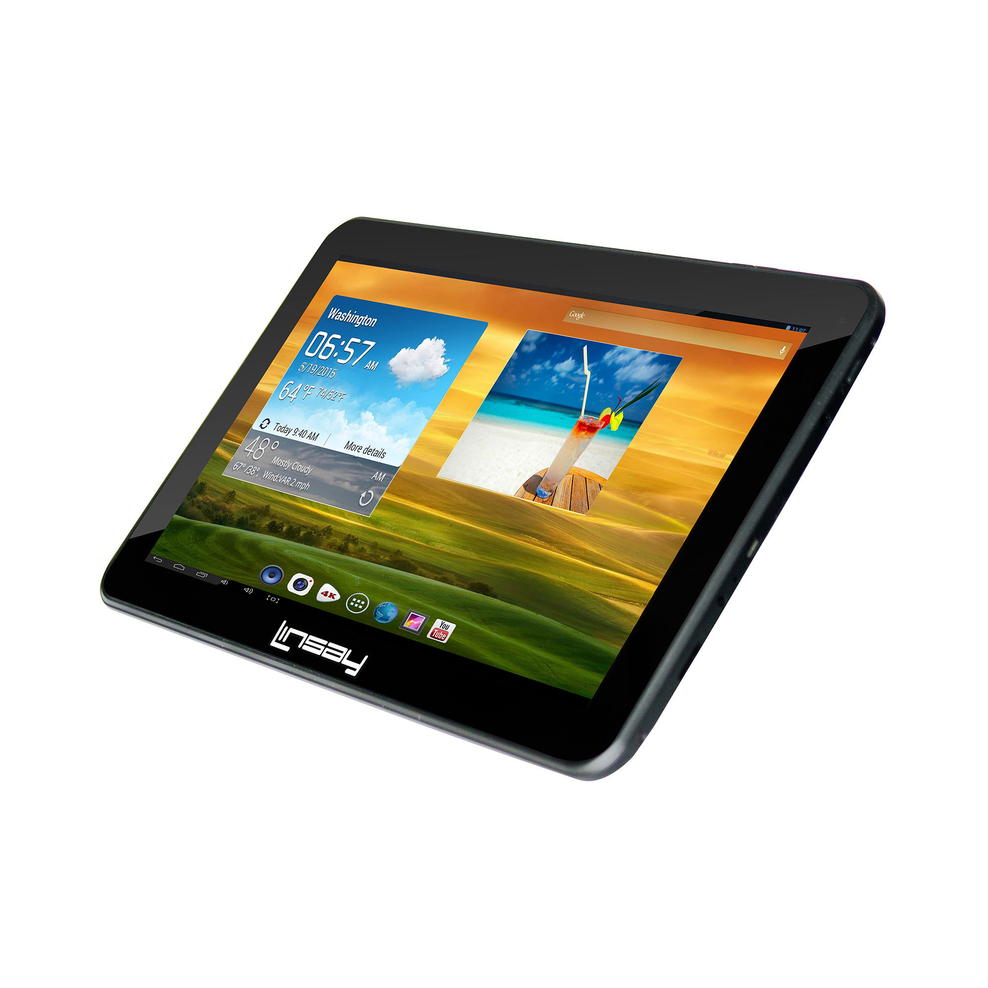 """LINSAY New 10.1"""" Quad Core 1024x600HD 8Gb Android Tablet"""