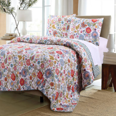 jcpenney.com | Greenland Home Fashions Astoria Reversible Floral Quilt Set