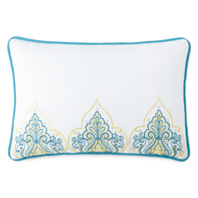 Inspire Jasmine Paisley Oblong Decorative Pillow