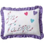 Victoria Classics Amanda Oblong Embroidered Decorative Pillow