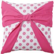 Victoria Classics Amanda Square Bow Decorative Pillow