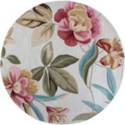 Floral Round Area Rug