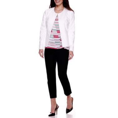 jcpenney.com | Liz Claiborne® Long-Sleeve Peplum Jacket, Sleeveless Blouse or Emma Ankle Pants - Petite