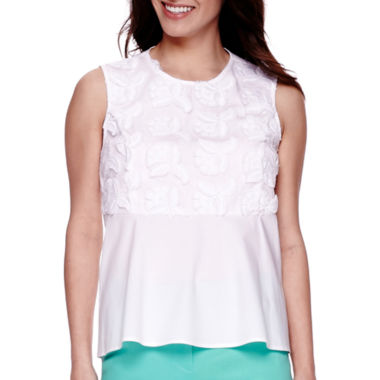jcpenney.com | Liz Claiborne® Sleeveless Embroidered Peplum Top