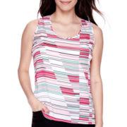 Liz Claiborne® Sleeveless Woven Striped Blouse - Petite