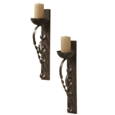 jcpenney.com | Set of 2 Twisted Pillar Wall Sconces