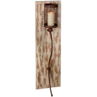jcpenney.com | Rusted Metal and Wood Pillar Wall Sconce