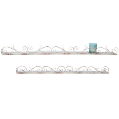jcpenney.com | Set of 2 Distressed Scroll Wall Shelves