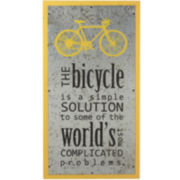Bicycle Inspirational Wall Art