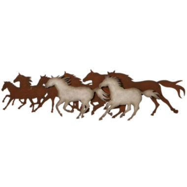 jcpenney.com | Galloping Horses Metal Wall Art