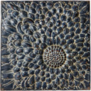 Distressed Flower Metal Wall Art