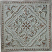 Sage Flower Medallion Metal Wall Art