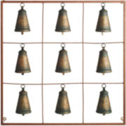Antique Bells Metal Wall Art