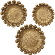 3-pc. Golden Flower Décor