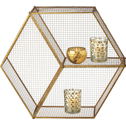 Hexagon Cubby Wall Shelf