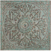 Distressed Medallion Metal Wall Art
