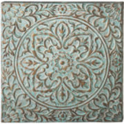 Floral Wall Medallion Metal Wall Art