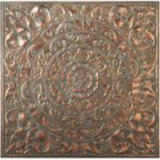 Patina Floral Medallion Metal Wall Art