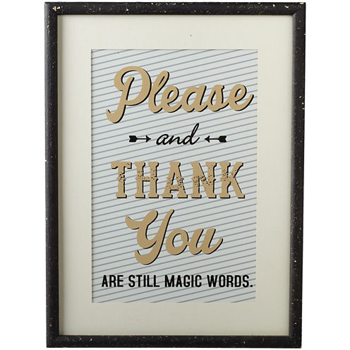 Please and Thank You Magic Words Wall Art