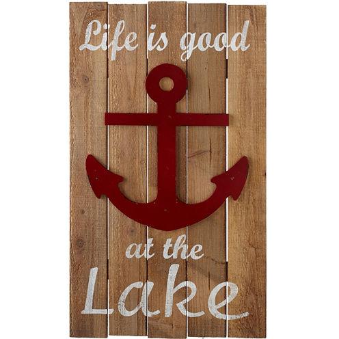 Life is Good at the Lake Wall Art