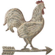 Distressed Rooster on Arrow Wall Art