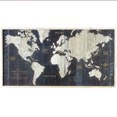 jcpenney.com | Framed Nautical Route World Map Wall Art