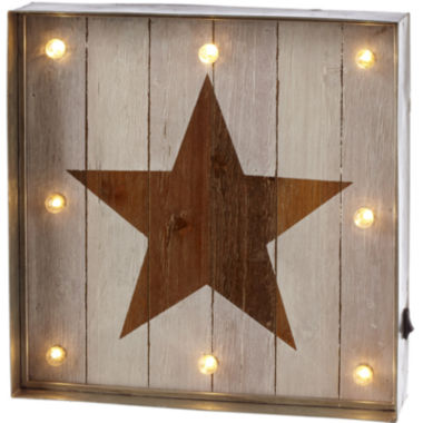 jcpenney.com | Star LED Galvanized Framed Marquee Wall Art