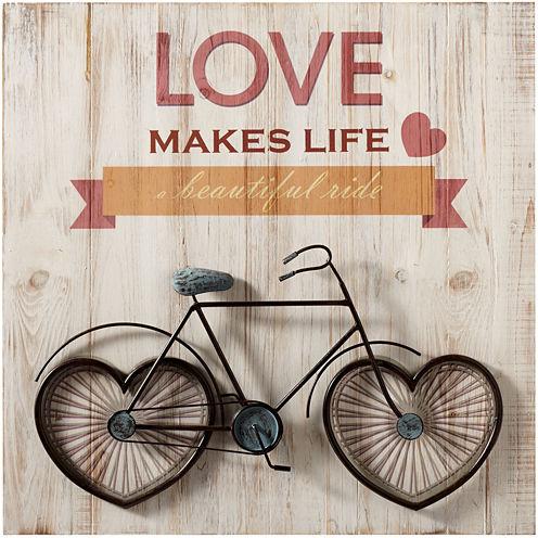 Love Makes Life a Beautiful Ride Wall Art