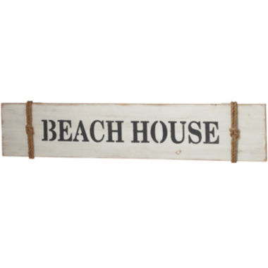 "jcpenney.com | ""Beach House"" Rope Sign Wall Art"