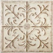 Distressed Ivory Medallion Wall Art