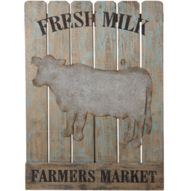 jcpenney.com | Farmers Market Fresh Milk Slat Wood Art