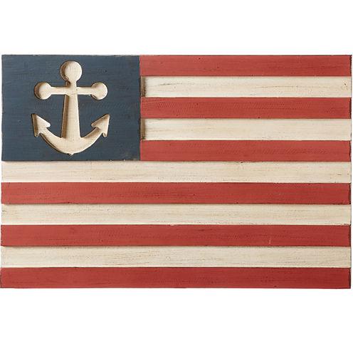 Anchor Flag Wall Décor