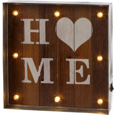 jcpenney.com | Home LED Galvanized Framed Marquee Wall Art