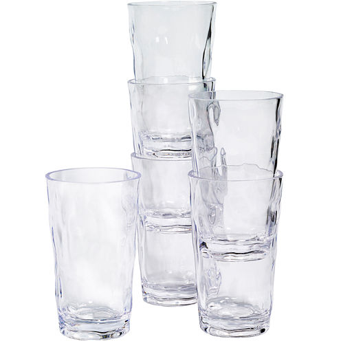 Tabletops Gallery® Set of 6 Acrylic Tumbler Glasses