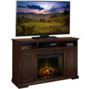 "King's Landing 64"" Entertainment Center with Electric Fireplace"