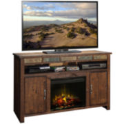 "Kirkwood 60"" Entertainment Center with Electric Fireplace"