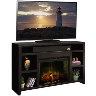 "jcpenney.com | Keystone 63"" Entertainment Center with Electric Fireplace"