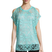 nicole by Nicole Miller® Short-Sleeve Burnout Top
